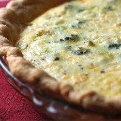 Easy Broccoli Quiche Recipe - This easy vegetarian quiche is a snap to make but looks great on the table.