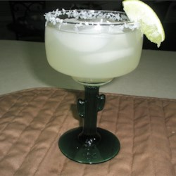 Margarita On The Rocks Recipe - A tasty margarita with an upscale flavor has a secret ingredient -- lemon-lime soda.