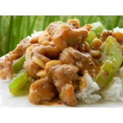 Kung Pao Chicken Recipe - When you're longing for the spicy, nutty flavor of take-out Kung Pao chicken, try this recipe featuring onion, green pepper, celery, and plenty of garlic stir-fried with chicken breast and seasonings, then sprinkled with roasted peanuts.