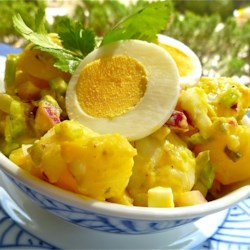 Old Fashioned Potato Salad Recipe and Video - This is potato salad the old-fashioned way, with eggs, celery and relish.