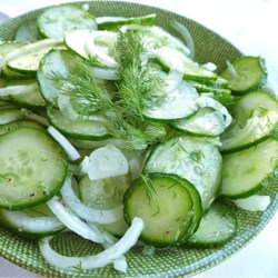 Hungarian Cucumber Salad Recipe - Cucumber, onion, and dill get a quick dressing in vinegar and oil for a simple, Hungarian-inspired cucumber salad.