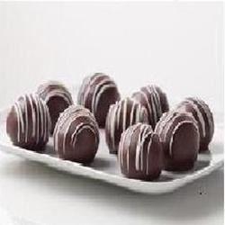 Triple chocolate cookie balls