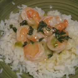 Lemony Shrimp over Brown Rice Recipe - This shrimp dish was something I threw together one night and my family loved it. It's really easy, healthy, and tasty!