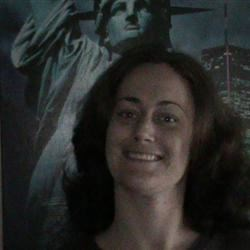 me infront of a picture of ms. liberty
