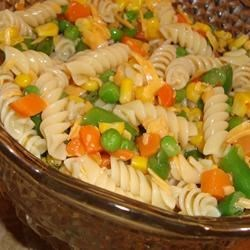 Italian Pasta Salad Recipe - A trip through a farmer's market will yield all the fresh vegetables you need for this crunchy salad. Toss bits of broccoli, carrots, bell peppers and celery with morsels of Cheddar or mozzarella, add cooked pasta and pour on the dressing of your choice.