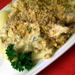 Poppy Seed Chicken II Recipe - Chicken is baked in a creamy sauce with a buttery crumb topping. This is an excellent way to use up leftover chicken. This is served up at our house at least once a month. We like it with mashed potatoes or rice and a green vegetable.
