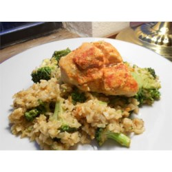 Chicken and Rice Skillet with Broccoli Recipe - Use your family's favorite vegetable combination in this fragrant and delicious chicken and herb-seasoned rice skillet dinner. Toss a salad while the ingredients simmer undisturbed, and voila: Dinner is served.