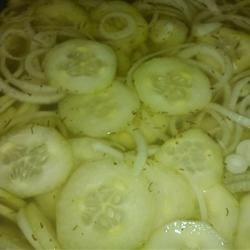 Grandma's Cucumber-Onion Salad with Dill