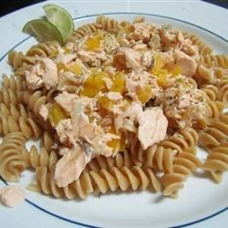Easy Grilled Salmon Pasta Recipe - Transform your leftover salmon into a creamy sauce tossed with linguine for a quick and easy weeknight dinner.