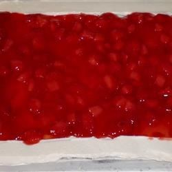 Strawberry Cake Filling Recipe - Frozen strawberries can quickly be turned into a delicious cake filling with some cornstarch, sugar, and water.