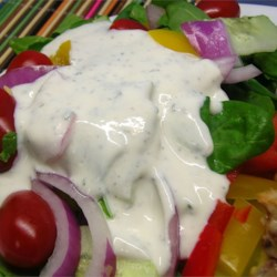 No-Mayonnaise Ranch Dressing Recipe - If you do not like mayonnaise, this recipe is for you!  It's so creamy, you'll never be able to tell that it's reduced fat! Couldn't be easier!