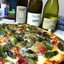 chef john's ham, asparagus pizza & some winning whites