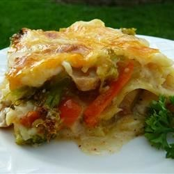 Turkey Lasagna Recipe - Try this sumptuous casserole the next time you have turkey to spare. Add turkey and broccoli to sauteed onions, celery and garlic, layer with uncooked lasagna noodles, a milk and butter white sauce, and mozzarella cheese. Bake until golden brown.