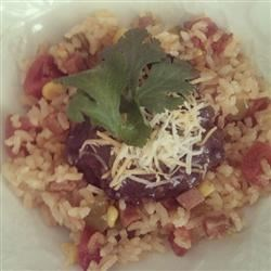Spanish rice with black beans