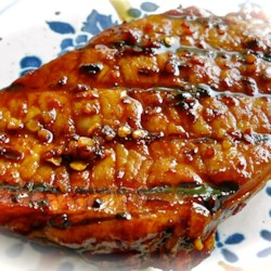 Honey-Soy Pork Chops from the Bradshaw Family Recipe - Honey, lemon juice, and soy sauce make a tasty and tangy marinade and basting sauce for grilled pork chops.