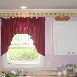 Every kitchen needs something red... I chose the curtains!