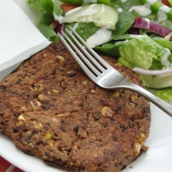 Spicy Black Bean Burgers Recipe - Super yummy and simple black bean burgers with a spicy jalapeno twist!