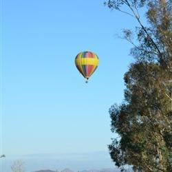 Hot Air Ballooning over wineries in Temecula, CA