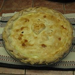 Meat Pie Recipe - This pie is delicious! I got the recipe from my husband's mother.  She is French so I believe this is a French Meat Pie. Beef, pork, and potato are all nicely spiced and baked into a pie.  It's yummy and pretty easy to make too! Best served fresh, but you can also make ahead and freeze or refrigerate.
