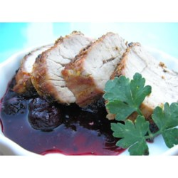 Sac Valley Grilled Pork Tenderloin Recipe - Rosemary and sage flavor this pork tenderloin. A fresh blackberry-Cabernet sauce provides the perfect accompaniment.
