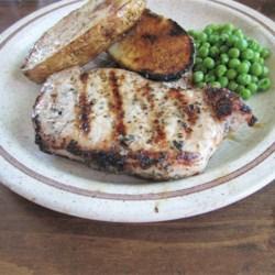 Back to Basil-Garlic Grilled Pork Chops recipe