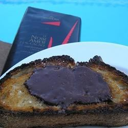 Chocolate Sea Salt Crostini