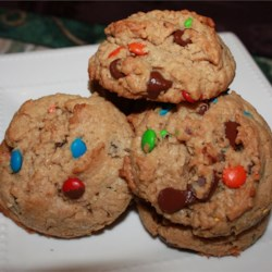 Hobo Cookies Recipe - These cookies are large and should be soft, so should not be overbaked.  They have no flour.