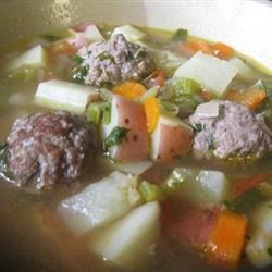 Homemade Albondigas Soup