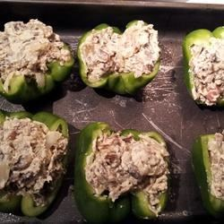 Sausage Alfredo Stuffed Peppers