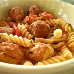 Meatball Noodle Onion Stoup