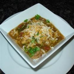 Mexican Pork and Green Chile Stew Recipe - Lean pork simmers in a stew with tomatoes, green chiles, onion, garlic, and cilantro in this version of a traditional Mexican dish. Serve with hot corn or flour tortillas with butter, or black beans and white rice.