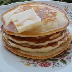 Healthier Good Old Fashioned Pancakes Recipe - One of grandma's favorite recipes, these pancakes are made healthier by using less butter, egg whites instead of a whole egg, and nonfat milk. A perfect way to start the day!