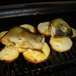 Honey-Mustard Grilled Trout