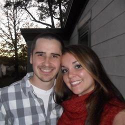 my husband and I on date night