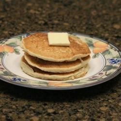 Rice Pancakes Recipe - This pancake recipe uses applesauce instead of egg and rice instead of wheat.