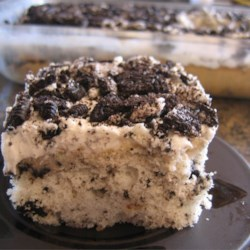 Cookies 'n Cream Cake Recipe - Very good, simple cake to make.  Always gets a lot of attention.