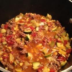 Ground Beef Zucchini Skillet