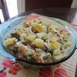 Roasted Potato Salad with Balsamic-Bacon Vinaigrette