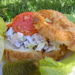 Crab Croissants Recipe - Blue crab claw meat served on buttery croissants is a favorite picnic dish for my wife, friends and me for summer trips.