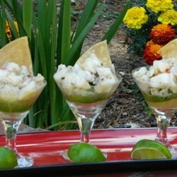 Moroccan Spiced Sea Bass Ceviche Recipe - Fresh, vibrant flavors which comes together to make a great dish. If you cannot get fresh sea bass, substitute with halibut or snapper
