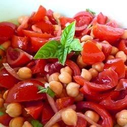 Garbanzo Bean Tomato Salad