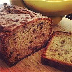 Janet's Famous Banana Nut Bread Recipe - This warm and nutty banana bread tastes great on a cold winter morning!
