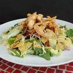 Southwest Chicken Salad I Recipe - This is a highly seasoned salad that is a nice change from the typical 'taco' version. Even my kids and their friends love it!