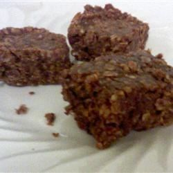 Choc-Oat-PB Bars Recipe - These are like the no-bake cookies, but much better as a bar!