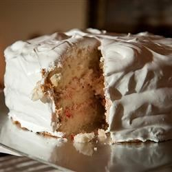 Lady Baltimore Cake Recipe - This cake is a real beauty covered with soft icing. You may substitute sherry for vanilla if you choose.