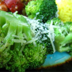 Broccoli with Poppy Seed Butter and Parmesan Cheese