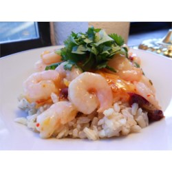Chipotle-Orange Shrimp Recipe - Smoky flavors from chipotle peppers and sweetness from orange marmalade play well off one another in this shrimp and rice recipe.