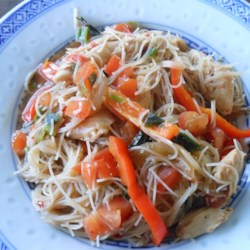Pad Kee Mow (Drunkard's Noodles) Recipe - This Thai-inspired rice noodle dish is seasoned with fish sauce, oyster sauce, and soy sauce. Red pepper flakes add a bit of heat, while barely cooked veggies add color and crunch.