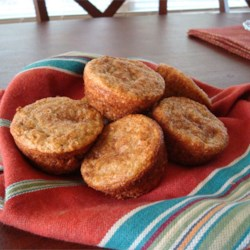 Banana Muffins I Recipe - This is a great banana muffin recipe!  It has little sugar and almost no fat if you use fat free sour cream. A big hit with everyone!