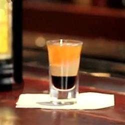 B-52 Recipe - This yummy shot has the aftertaste of a chocolate chip cookie!